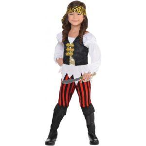 Amscan Dětský kostým - Zlatá pirátka