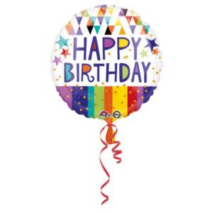 Amscan Fóliový balón - Happy birthday 43 cm