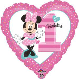 Amscan Fóliový balón - Prvé narodeniny Minnie
