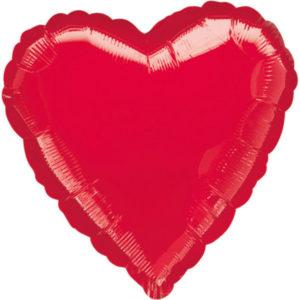 Amscan Fóliový balón - srdce červené