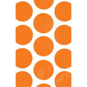Amscan Papírové sáčky puntíkované - oranžové 10 ks
