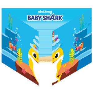Amscan Pozvánky - Baby Shark 8 ks