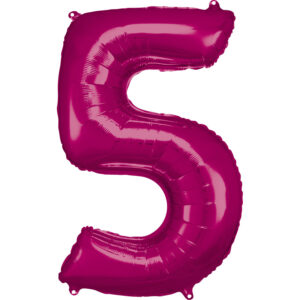 Amscan Balónek fóliový narozeninové číslo 5 - růžový 86 cm
