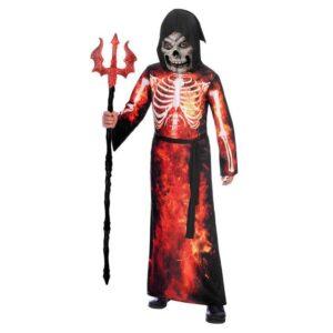 Amscan Dětský kostým - Hořící smrtka Velikost - děti: M/L