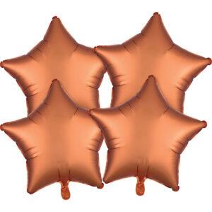 Amscan Fóliové balonky sada hvězdy satén - jantar