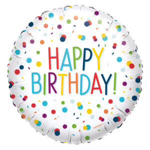 Amscan Fóliový balón Happy Birthday - konfety