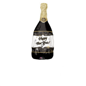 Amscan Fóliový balón - Šampaňské Happy New Year!