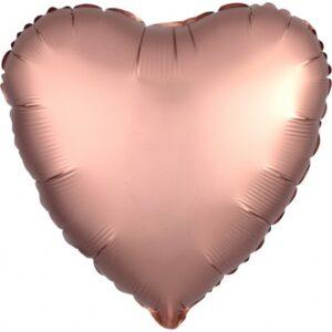 Amscan Fóliový balón Srdce - růžovo-zlaté 43 cm