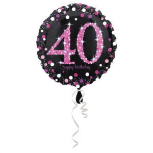 Amscan Fóliový balónek 40 třpytivá růžová