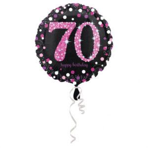 Amscan Fóliový balónek 70 třpytivá růžová