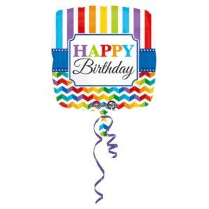 Amscan Fóliový balónek Barevné narozeniny 43 cm