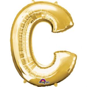 Amscan Fóliový balónek písmeno C 86 cm zlatý