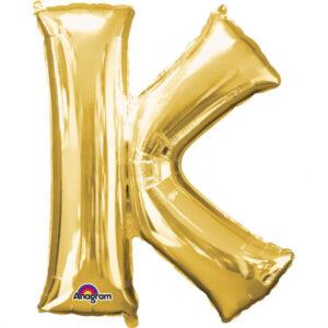 Amscan Fóliový balónek písmeno K 86 cm zlatý