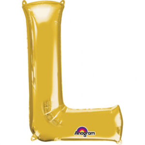 Amscan Fóliový balónek písmeno L 86 cm zlatý
