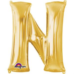 Amscan Fóliový balónek písmeno N 86 cm zlatý