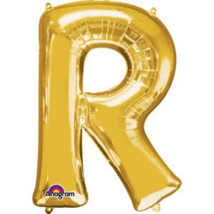 Amscan Fóliový balónek písmeno R 86 cm zlatý
