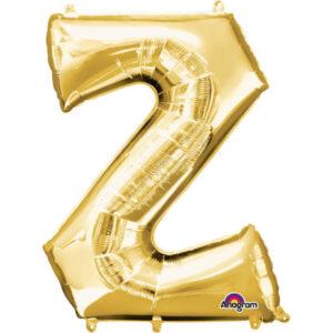 Amscan Fóliový balónek písmeno Z 86 cm zlatý