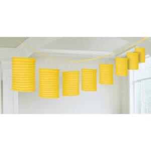 Amscan Girlanda s lampiony - žlutá 365 cm