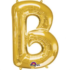 Amscan Mini fóliový balónek písmeno B 33 cm zlatý