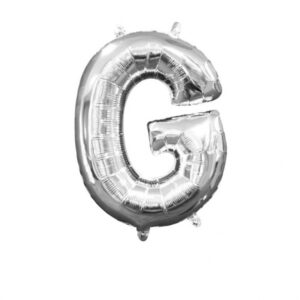 Amscan Mini fóliový balónek písmeno G 33 cm stříbrný