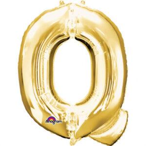 Amscan Mini fóliový balónek písmeno Q 33 cm zlatý