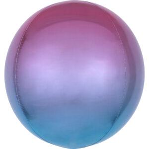 Amscan Ombre fialovo-modrý fóliový balonek - koule