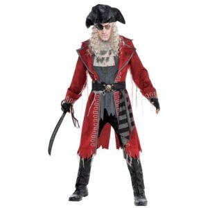 Amscan Pánsky kostým - Zombie Kapitán pirátov Velikost - dospělý: PLUS