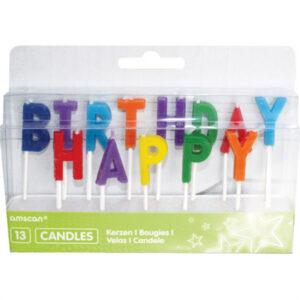Amscan Svíčky Happy Birthday - barevné