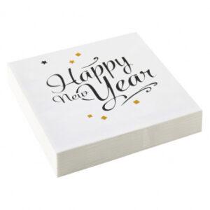 Amscan Ubrousky Happy New Year 20 ks