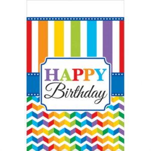 Amscan Ubrus barevné narozeniny 137 x 259 cm