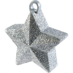 Amscan Závaží na balónky Hvězda třpitivá - stříbrná