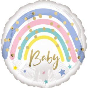 BALÓNEK fóliový Duha Baby
