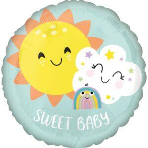 BALÓNEK fóliový Sweet Baby Rainbow
