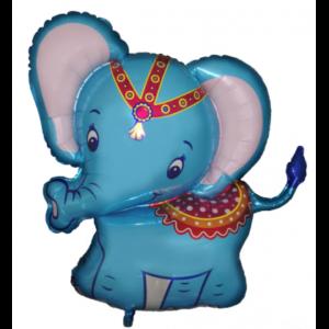 BP Fóliový Balón Slůně cirkus - modrý