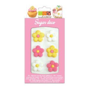 CakeSupplies Cukrové zdobení - Kvítky (bílé
