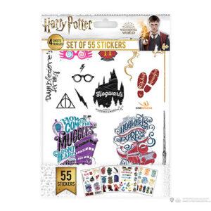 Cinereplicas Sada 55 nálepek - Harry Potter