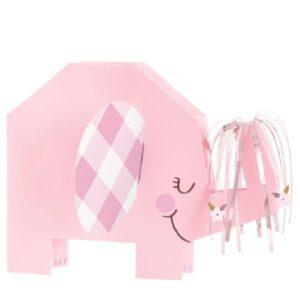 DEKORACE na stůl Slon růžový