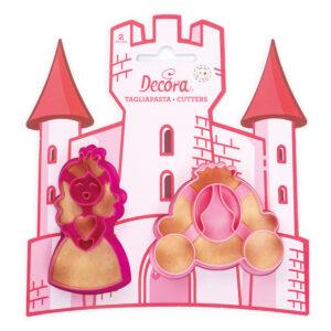 Decora Sada vykrajovátek - princezna a kočár
