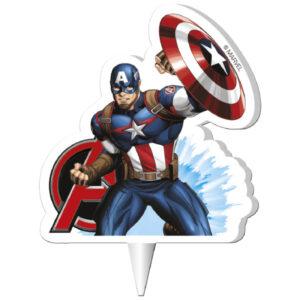 Dekora Narozeninová svíčka - Captain America 7