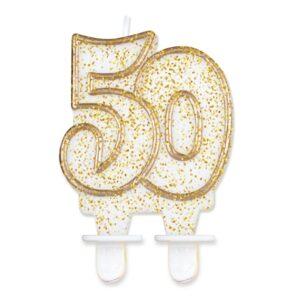 Godan Dortová svíčka 50 - zlatá