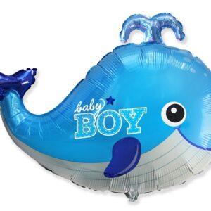 Godan Fóliový balón Velryba - Baby Boy 60 cm