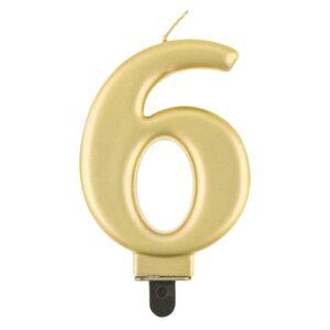 Godan Narozeninová svíčka 6 metalická zlatá