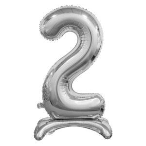 Godan Samostojící fóliový balón 2 stříbrný 74 cm