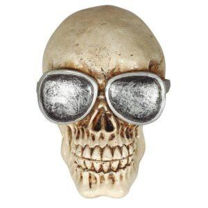 Guirca Dekorace - Lebka s brýlemi 11 cm