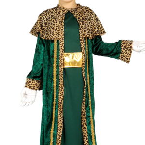 Guirca Dětský kostým Král Baltazar - zelený Velikost - děti: XL