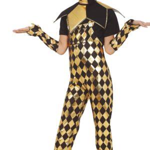 Guirca Dětský kostým - černo-zlatá Harley Quinn Velikost - děti: XL