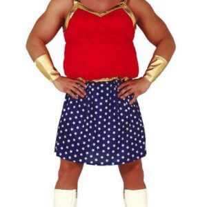 Guirca Pánský kostým - Obézní Wonder Woman Velikost - dospělý: M