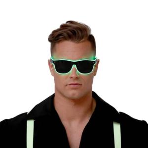 Guirca Zelené brýle s osvětlením