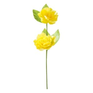 KVĚTINA dekorační papírová žlutá 70cm