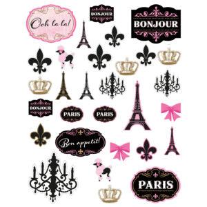 OBRÁZKY papírové motivy Den v Paříži 12